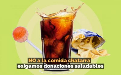 No a las donaciones de comida chatarra