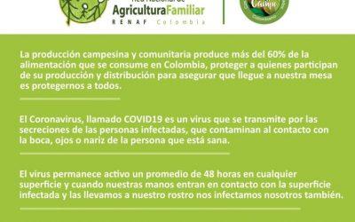 Protocolos de abastecimiento y comercialización de productos y distribuidos por la Agricultura Campesina, Familiar y Comunitaria, y las medidas de protección en los mercados.